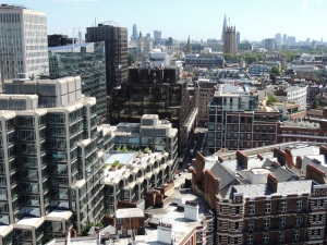 Roof top gardens are becoming common on London's office blocks