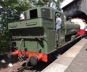 3650 on the branch line at Burlescombe Station
