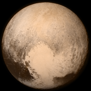 """NH-Pluto-color-NewHorizons-20150713"" by NASA / JHUAPL / SwRI - http://pluto.jhuapl.edu/Multimedia/Science-Photos/pics/P_LORRI_FULLFRAME_COLOR.png. Licensed under Public Domain via Wikimedia Commons - https://commons.wikimedia.org/wiki/File:NH-Pluto-color-NewHorizons-20150713.png#/media/File:NH-Pluto-color-NewHorizons-20150713.png"