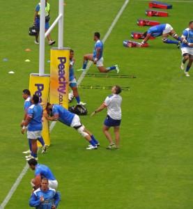 Samoans go their their exercises