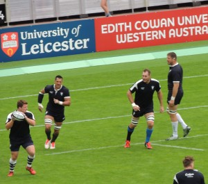 Barbarians try out their passing