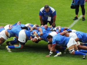 Scrum practice for Samoan forwards