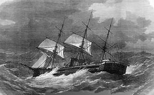 The_sinking_of_HMS_Captain by William Frederick Mitchell [Public domain], via Wikimedia Commons