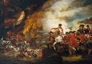 """The Siege and Relief of Gibraltar (2)"" by John Singleton Copley - http://underground-gibraltar.com/#/cave-photos/4568933843. Licensed under Public Domain via Wikimedia Commons - https://commons.wikimedia.org/wiki/File:The_Siege_and_Relief_of_Gibraltar_(2).jpg#/media/File:The_Siege_and_Relief_of_Gibraltar_(2).jpg"