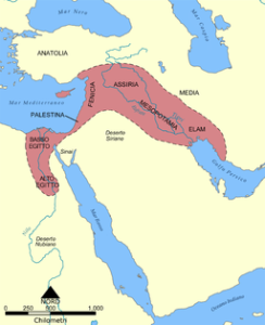 Fertile Crescent (By 92bari (Own work) [CC BY-SA 3.0 (http://creativecommons.org/licenses/by-sa/3.0)], via Wikimedia Commons)