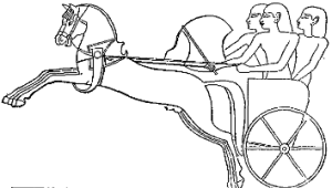 3 man chariot Licensed under Public Domain via Wikimedia Commons - https://commons.wikimedia.org/wiki/File:C%2BB-Chariot-Fig7-HittiteChariot.PNG#/media/File:C%2BB-Chariot-Fig7-HittiteChariot.PNG