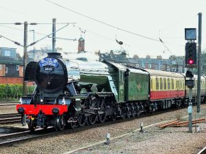 Flying Scotsman arriving at York