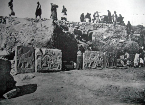 Carved panels from the Palace of Carchemish (c1910) [Public