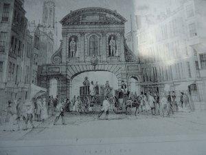 Temple Bar in Fleet St c 1845