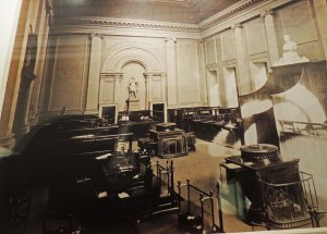 The original banking hall which remained in use until 1920's