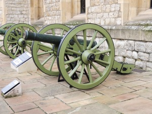 Bronze 6 pounders captured at Battle of Waterloo 1815