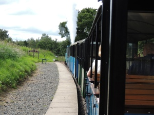 Train leaving Etal station