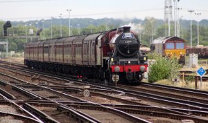 49th Commemoration of The End of Southern Steam 9th July 2016 Railway Touring Company West Coast Eastleigh (01) No. 45699 Ex-LMS BR Crimson Stanier Jubilee 6P class 45699 Galatea