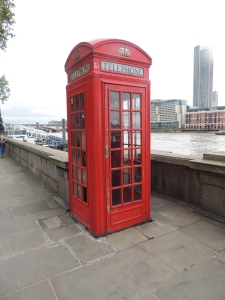 Traditional Red phone box -although this one looks like it could do with some care