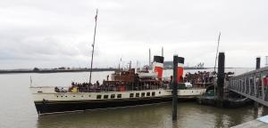 PS Waverley alongside at Gravesend
