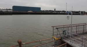 Industrial Thames on the outskirts of Gravesend