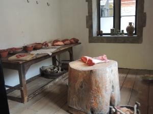 Meat preparation room