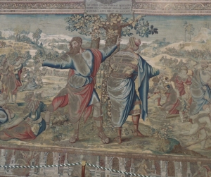 Tapestries like this would have covered the walls as decoration