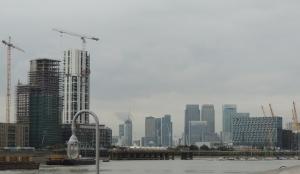 Approaching Greenwich Penninsular