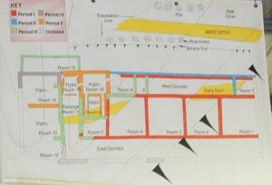 Plan of Villa remains