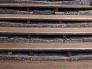 Steps worn away by centuries of Pilgrims