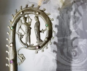Head of a medieval Bishop's crozier. Photo by Keith
