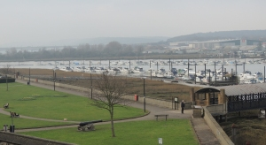 River Medway from the Castle Terrace