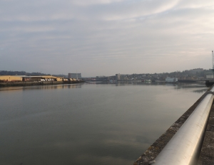 The River Medway in the area once occupied by Rochester Docks