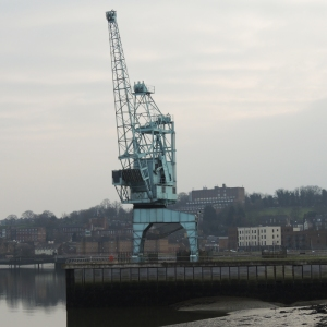 A reminder of the docks which once stood on this site