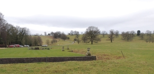 The front terrace and the deer park beyond