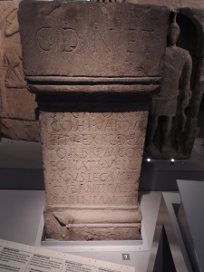 Altar to the 'Genius of the Emperor' set up by 1st cohort of Vardulli (scouts) who came from Northern Spain