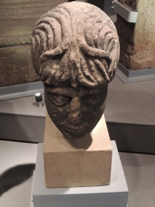 Statue head from Temple at Benwell Fort