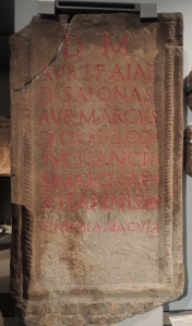Tombstone of Aurelia Aia, a Christian from Salonae in Croatia - the wife of a soldier