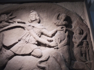 Relief of Mithras killing the Bull from Mithraeum at Housesteads Fort