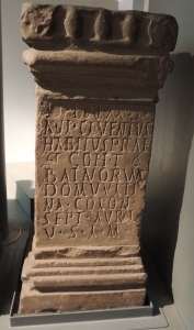 Altar dedicated Mithras by Aulus Cluentius Habitus, an Italian from Lanneum in the Apenines - from Mithraeum at Carrawburgh