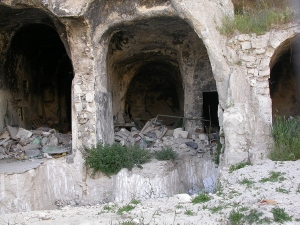 Looking inside a cave house