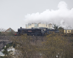 75014 crossing the Broadsands Viaduct