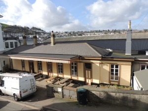Dartmouth Station, where no train ever called. Now a quayside cafe.