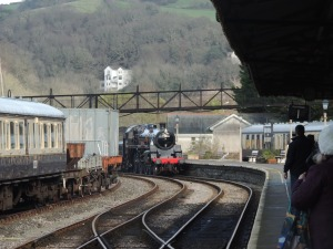 75014 Braveheart entering Kingswear Station