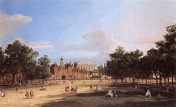 Horse Guards Parade and the Banqueting Hall by Canaletto 1749 [Public domain], via Wikimedia Commons