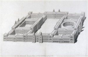 Inigo Jones plan for Whitehall Palace. Public Domain, https://commons.wikimedia.org/w/index.php?curid=7994263
