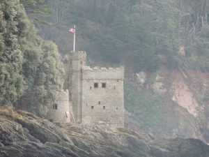 Kingswear Castle - built to match Dartmouth castle on the opposite side of the harbour enterance
