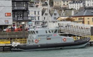 UK Border force patrol boat docked at Dartmouth