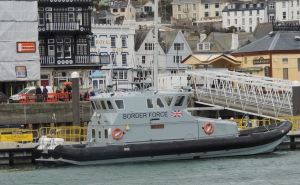 UK Border force patrol boat docked at Dartmouth