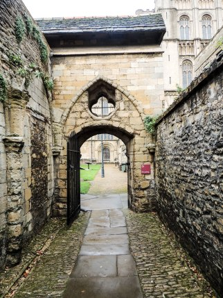 Entrance to the cloisters from the dormitory and refectory