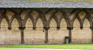 Rear wall of cloister