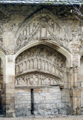 The intricate decoration of the latest rebuild of cloisters
